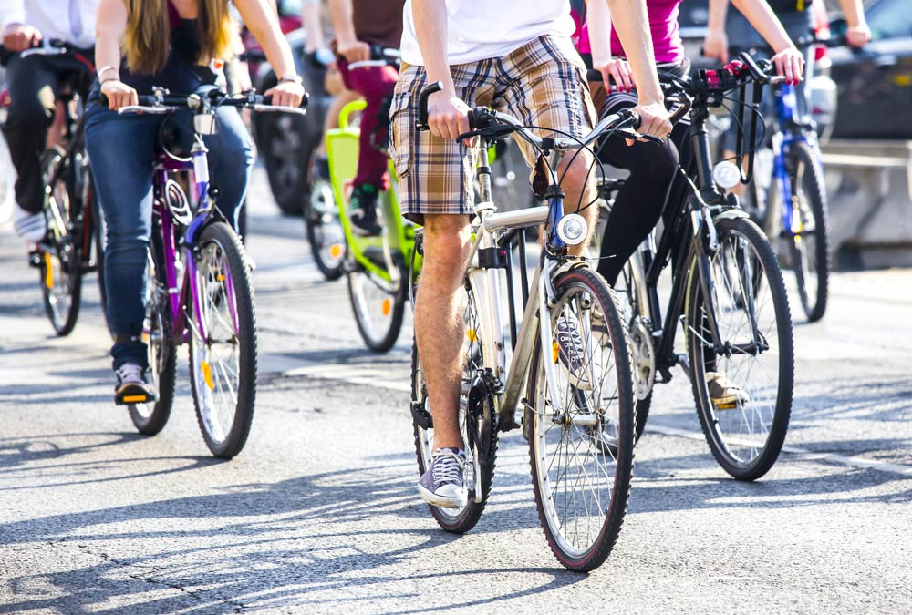 biciclette traffico strada
